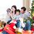 happy family having fun with christmas presents stock photo © wavebreak_media