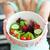 insalata · preparazione · olio · d'oliva · erbe · foglie · pomodori - foto d'archivio © wavebreak_media