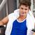 atletisch · jonge · man · bank · druk · fitness · centrum - stockfoto © wavebreak_media