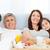famiglia · colazione · letto · home · ragazza · sorriso - foto d'archivio © wavebreak_media