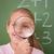 schoolmeisje · naar · vergrootglas · Blackboard · kind · student - stockfoto © wavebreak_media