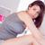 beautiful brunette sitting on bed stock photo © wavebreak_media
