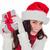 mutlu · esmer · şapka · hediye - stok fotoğraf © wavebreak_media