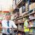 menedzser · húz · dobozok · alkalmazott · raktár · férfi - stock fotó © wavebreak_media
