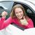улыбающаяся · женщина · ключи · от · машины · Новый · автомобиль · выставочный · зал - Сток-фото © wavebreak_media