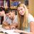 diákok · tankönyvek · könyvek · iskola · oktatás · öt - stock fotó © wavebreak_media