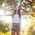 fiatal · nő · érzés · szabad · kint · nő · mosoly - stock fotó © wavebreak_media