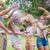 boldog · barátok · dob · por · festék · napos · idő - stock fotó © wavebreak_media