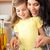 anne · kız · pişirme · birlikte · kıdemli · gülen - stok fotoğraf © wavebreak_media