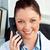 gülen · kadın · doktor · ofis · oturma · büro - stok fotoğraf © wavebreak_media