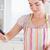 vrouw · schaal · keuken · voedsel · glimlach · gelukkig - stockfoto © wavebreak_media
