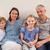 счастливая · семья · сидят · диван · глядя · камеры · семьи - Сток-фото © wavebreak_media