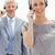 vrouw · hoofdtelefoon · grijs · haar · zakenman - stockfoto © wavebreak_media