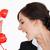 mujer · traje · rojo · marcar · teléfono - foto stock © wavebreak_media