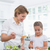 mère · fille · salade · ensemble · fille - photo stock © wavebreak_media