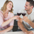 couple toasting red wine glasses at table stock photo © wavebreak_media