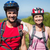 active couple cycling in the countryside smiling at camera stock photo © wavebreak_media