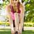 fit blonde tying her shoelace stock photo © wavebreak_media