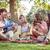 vrienden · spelen · gitaar · picknick · zomer · park - stockfoto © wavebreak_media