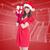 chapeau · cadeau · rouge · arc · blanche - photo stock © wavebreak_media