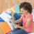jonge · zakenvrouw · naar · papieren · vrouw - stockfoto © wavebreak_media