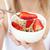 mulher · alimentação · cereais · morangos · branco - foto stock © wavebreak_media