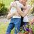 pequeno · criança · sorridente · mãe · jardim - foto stock © wavebreak_media