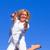portret · charmant · vrouw · springen · lucht · outdoor - stockfoto © wavebreak_media