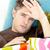 больным · молодым · человеком · чувство · температура · диван · гостиной - Сток-фото © wavebreak_media