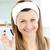 gülümseyen · kadın · bakıyor · kamera · banyo · yüz - stok fotoğraf © wavebreak_media