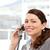 güzel · işkadını · konuşma · telefon · oturma · ofis - stok fotoğraf © wavebreak_media