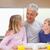 улыбаясь · отец · детей · утра · кухне · дома - Сток-фото © wavebreak_media