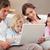 calme · famille · utilisant · un · ordinateur · portable · salon · amour · internet - photo stock © wavebreak_media