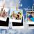 composite image of instant photos hanging on a line stock photo © wavebreak_media