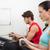 女性 · ローイング · マシン · フィットネス · スタジオ · スポーツ - ストックフォト © wavebreak_media