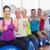 people sitting on exercising balls gesturing thumbs up stock photo © wavebreak_media