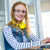 mosolyog · designer · gépel · billentyűzet · iroda · üzlet - stock fotó © wavebreak_media