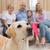 rodziców · dzieci · sofa · labrador · domu · salon - zdjęcia stock © wavebreak_media
