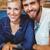 retrato · alegre · casal · usando · laptop · sessão · juntos - foto stock © wavebreak_media