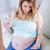 kobieta · w · ciąży · witamina · tabletka · domu · salon - zdjęcia stock © wavebreak_media