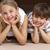 Geschwister · spielen · Boxen · Umzug · lächelnd · Mädchen - stock foto © wavebreak_media