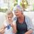 senior · neta · casa · feliz · trabalhar - foto stock © wavebreak_media