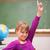 schoolmeisje · hand · primair · klasse · kinderen · student - stockfoto © wavebreak_media