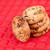 cinco · cookies · fuera · junto · rojo · mantel - foto stock © wavebreak_media