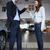man · autosleutels · vrouw · garage · gelukkig · zakenman - stockfoto © wavebreak_media
