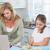 szczęśliwy · matka · pomoc · córka · praca · domowa · domu - zdjęcia stock © wavebreak_media