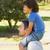 papà · figlio · spalle · padre - foto d'archivio © wavebreak_media