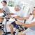 homens · exercer · bicicleta · ginásio · esportes - foto stock © wavebreak_media