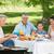 avô · neta · churrasco · família · refeição · mulher - foto stock © wavebreak_media