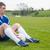 サッカー · ブーツ · 反射 · 白 · 革 · 足 - ストックフォト © wavebreak_media